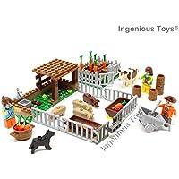 RARO GRANJA SET ANIMALES Alimentación Vegetal creciente & AGRICULTORES CREATOR por INGENIOUS Juguetes #28501