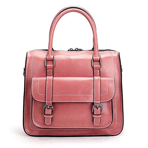 Kieuyhqk Womens Girls Leather Top Handle Handtaschen Schulter Crossbody-Tasche mit verstellbaren abnehmbaren Riemen für Dating Daily Women's Casual Handtasche Schulter-Handtasche