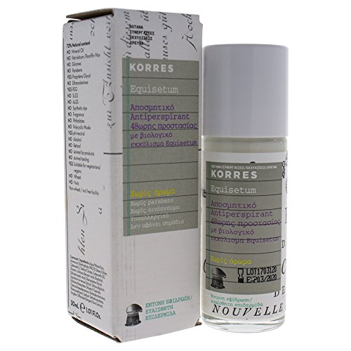 Korres Antiperspirant 48h Deodorant Parfümfrei,1er Pack (1