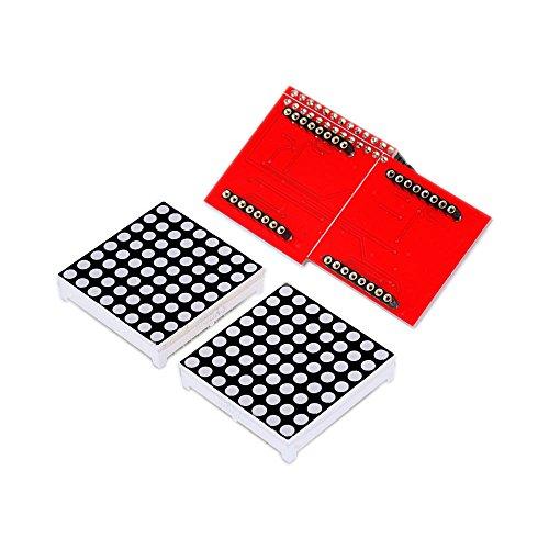 n-cathode Dot Matrix LED-Matrix Display Modul + Treiber BOARD für Raspberry Pi (Schwarz Und Weiß Halloween Pics)