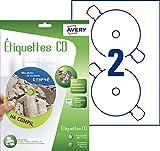 24 étiquettes CD/DVD maxi couvrantes Jet d'Encre
