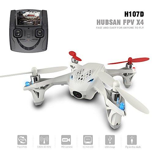 Hubsan H107D X4 FPV Quadricottero Telecamera 480P 5.8Ghz Flips 360 ° Hold Altitude