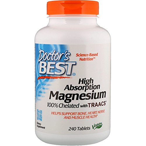 High Absorption Magnesium, 100% Chelated, 240 Tablets - Doctor's Best - Qty 1 (Absorption Magnesium Hohe)