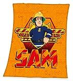 Feuerwehrmann Sam Flauschdecke Kuscheldecke 130 x 160 cm, Micro Plüschdecke