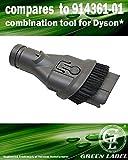 Outil combiné pour les aspirateurs Dyson : brosse époussette et embout à débris 2 en 1 (alternative à 914361-01). Produit authentique de Green Label
