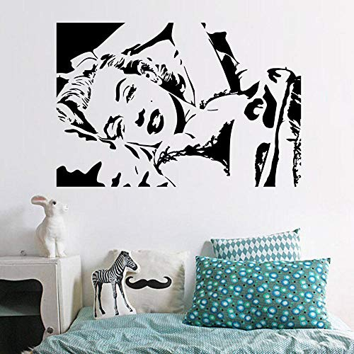 Wandaufkleber_Schwarz Geschnitzter Wandaufkleber Charakter Marilyn Monroe 58X39Cm