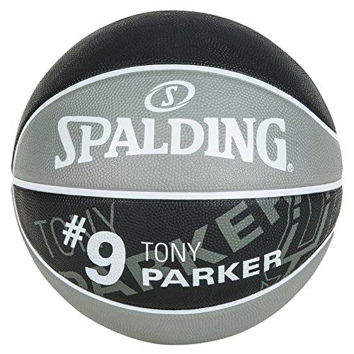 Spalding Nba Player Tony Parker Sz.7 83-380Z - ballon de basket pour Homme, couleur Gris / Noir, taille 7