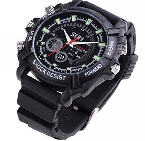 BYD - 1080 P W1000 orologio fotocamera orologio da polso nascosta DVR videocamera supporto visione notturna Guarda DV