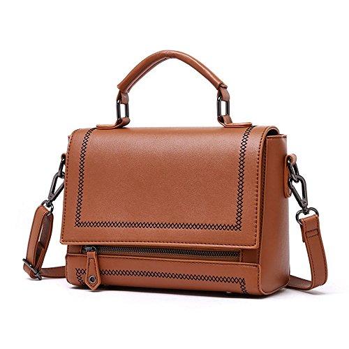 Sacchetto di estate, borse, moda versione coreana dello zaino selvaggio della spalla selvaggia, borsa atmosferica ( Colore : Nero ) Marrone