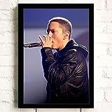 XWArtpic American Famous Singer Eminem Slim Shady Cool HD Poster Hip Hop Rap Music Song Dormitorio Decoración para el hogar Arte de la Pared Pintura de la Lona 60 * 100cm