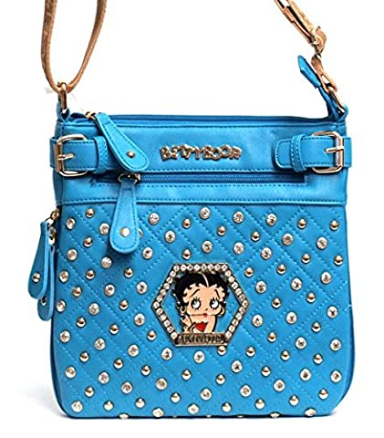 Blancho Bedding Womens [Betty Boop Love] PU lederen handtas Fashion Elegant Tas BLAUW