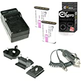 Ex-Pro ® Sony np-by1, npby1–850mAh Haute Puissance nominale Plus + Batterie au lithium li-ion Batterie pour Appareil Photo Numérique Sony HD Actioncam AZ1, action cam Mini avec Wi-Fi hdr-az1, hdr-az1vr