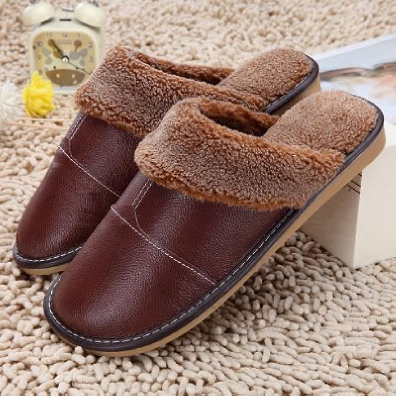 laxba femmes hommes des hiver chaud des hommes pantoufles chaussures antidérapantes pantoufle de coton rembourrés in térie ur Marron 44 b077wf6jqf parent aa8c09