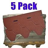 5er Pack Dachschindeln Hexagonal Rot 5x 3,5 m² = 17,5 m²