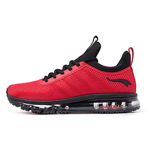 Rot Casual Schuhe (onemix Herren Air Laufschuhe Trainer Casual Walking Gym Sportschuhe Rot HH 44)