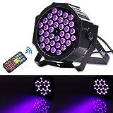 U`King 72W UV Par Licht DMX Bühnenbeleuchtung Partylicht Schwarz Light
