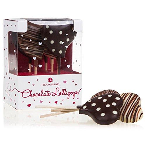 Lollipop Herzen – 5 Herzlollies aus Schokolade