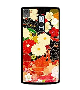 Fuson Designer Back Case Cover for OnePlus 2 :: OnePlus Two :: One Plus 2 (Flowers Roses Dahlia floral Green Leaves)