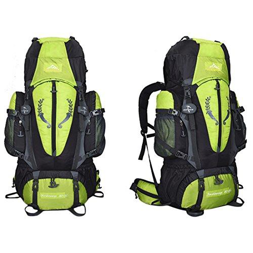iTECHOR Outdoor 85L Interno Cornice Alpinismo Zaino Impermeabile Gita Campeggio Zaino - Rosso Green