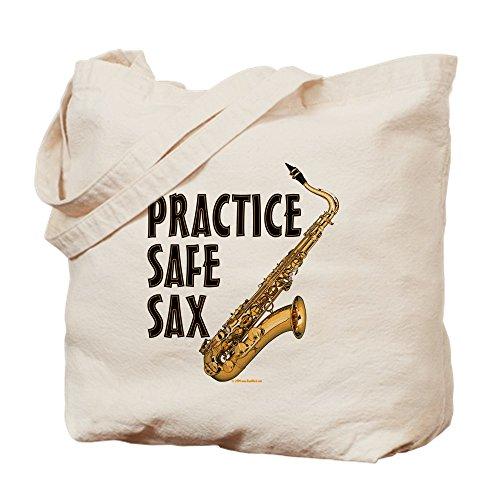 CafePress–Praxis Safe Sax–TENOR–Leinwand Natur Tasche, Reinigungstuch Einkaufstasche Tote S khaki