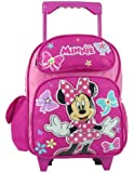 Small Rolling Backpack - Disney - Minnie Mouse - Girls School Bag New 628222