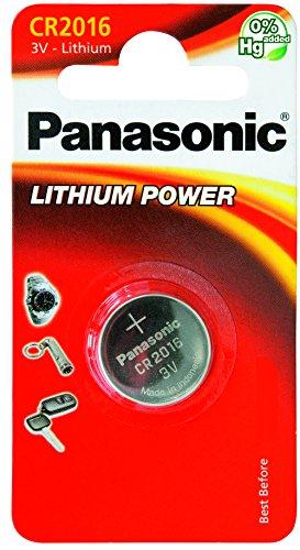 Panasonic Knopfzelle Lithium CR2016 (90 mAh, 3 Volt) (Panasonic Cr2016 3v)