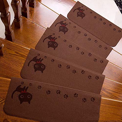 XDT Textilfaser - Stufenmatten,Stufenmatten Kleinformat Für Raumspartreppen/Wendeltreppen(55X20.5CM) (Color : Style 6, Size : 15pieces)