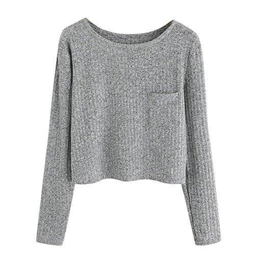Damen Sweatshirt mit Ausbrenner-Effekten und Artwork Same Style Sweater Damen Sweatshirts Tops Langarmshirt Miederhose Taillenformer - Braune Wildleder-effekt