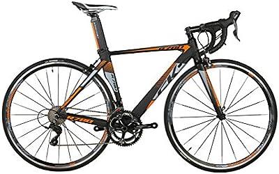 Rico Bit® R780cambios 9de bicicleta de carretera (18velocidades casete Ultra ligera de fibra de carbono tenedor Shimano 3500700C * 46/48cm BLACK-ORANGE