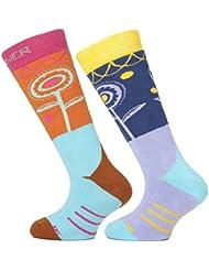Sinner par de calcetines, color Varios colores - Pink/Blue Flowers, tamaño FR : 23-26 (Taille Fabricant : 23-26)