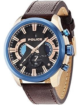 POLICE Cyclone Herren Chronograph braun/blau/silber PL14639JSRBL.02