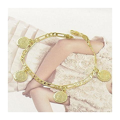Bracelet en Or Jaune 18 Carats de femme LIVRAISON GRATUITE - Bracelet 18k
