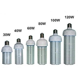 YXH® E40 LED 80W Bulb Corn Energy Saving 6000k lamp led Daylight Ac100-300V Indoor Outdoor LED Lighting Bulb for Office Workshop Store Lights (10400LM)