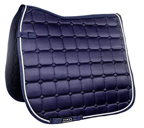 HKM Schabracke -Madrid Sattel- & Zaumzeug, dunkelblau, One Size