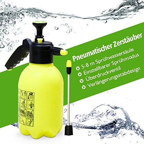 Hand Bewässerung Drucksprüher, Pathonor neu gepflanzt Perfekte Handpumpe Kunststoff Garten Spritzgerät für Herbizide, Pestizide, Dünger, milde Reinigungslösungen und Bleichmittel Auto auftauen (2L )