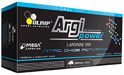 Argi Power 1500 Mega 120 Caps L-arginine Hcl Nitric Oxide Olimp Free P&p from Olimp