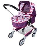 Mamas and Papas 1422961 - Carrito de bebé de juguete, diseño de lunares, color morado