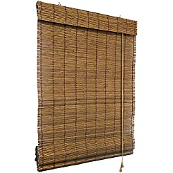 Victoria M - Persiana de bambú para interiores, color marrón, tamaño: 60 x 160 cm