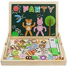 Puzzles de Madera Magnéticos Juguete Educativo Dibujo con Caballete Puzzle para Regalos Niños 3 4 5 Años