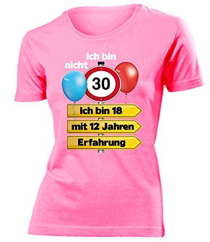 Ich Bin Nicht 30 Ich Bin 18 mit 12 Jahren Erfahrung Damen Frauen T Shirt Geschenke Geburtstag Ideen Happy Birthday Artikel Mama Freundin Mutter Sie