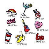 #5: iDream Iron on patches, Assorted Size Iron Embroidery Appliqué Decoration DIY Patch for Jeans Clothing etc (Theme G)
