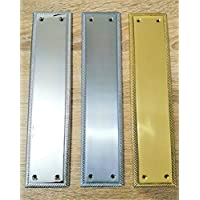 1.2 mm Solid Polished Brass FINGER PLATE 300 x 75 mm Internal Door Push Plate