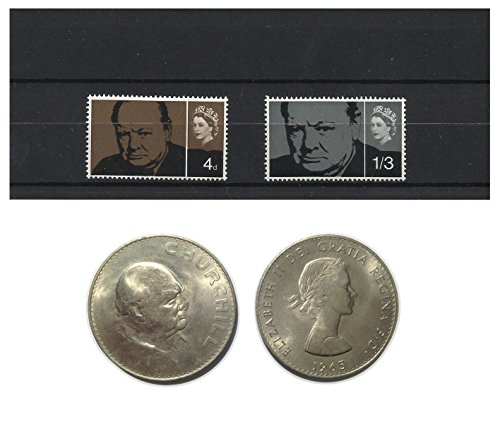stamps-and-coins-for-collectors-1965-winston-churchill-commemorative-mnh-and-unc-stamp-and-coin-set-