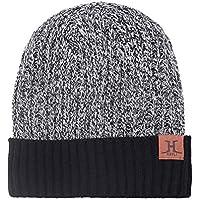 FENICAL Sombrero de Invierno Skullies Sombreros Gorro de Punto Espesar Gorro de Terciopelo cálido para Hombres, Mujeres (Gris Brezo)