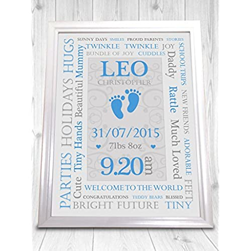 Personalised baby boy gifts amazon sp personalised christening print boy and girl perfect gift new baby present unframed print looks stunning in a nice frame negle Choice Image