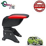 #4: myTVS TAR-16 Car Designer Armrest with Slider-Black & Red for Chevrolet Beat