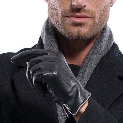 MATSU Luxus Herren Handschuhe Leder Winter M1006 Lammfell