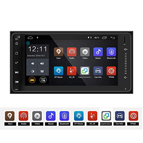 ZJYYD 7-Zoll-Android-System, das Bild, Auto GPS-Navigation WiFi Bluetooth 4.0 aufhebt, gibt integrierte Maschine für Toyota Corolla frei (Wifi-radio Pandora)