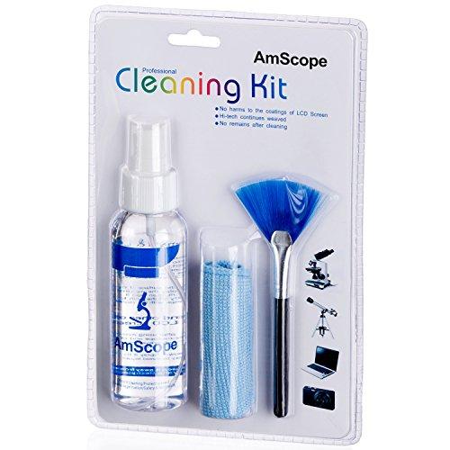 3 in 1, Kit di pulizia professionale per microscopio, fotocamere e PC portatili