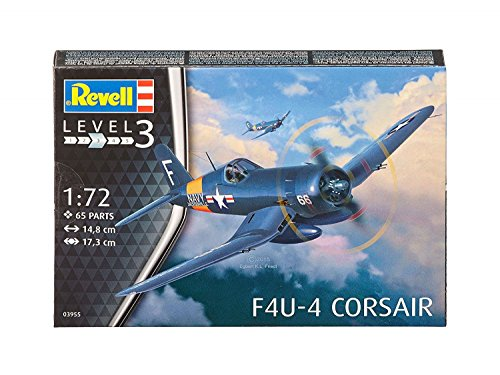 Revell 03955–modellino–f4u–4corsair–blu–scala 1/72–65pezzi